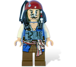 LEGO Pirates of the Caribbean Jack Sparrow Minifigure Clock  (5000144)