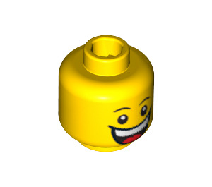 LEGO Plain Head with Decoration (Safety Stud) (23094 / 86289 / 92052)