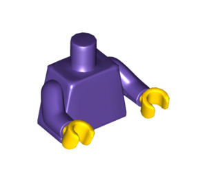 LEGO Plain Minifig Torso with Dark Purple Arms and Yellow Hands (76382)
