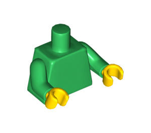LEGO Plain Minifig Torso with Green Arms (76382 / 88585)