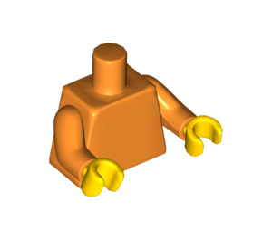 LEGO Plain Minifig Torso with Orange Arms and Yellow Hands (76382)
