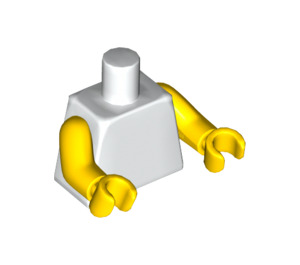 LEGO Plain Minifig Torso with Yellow Arms and Hands (76382 / 88585)