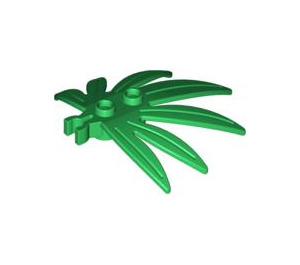 LEGO Plant Leaves 6 x 5 Swordleaf with Clip (Gap in Clip) (30239)