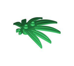 LEGO Plant Leaves 6 x 5 Swordleaf with Clip (Open 'O' Clip) (10884 / 42949)
