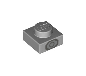 LEGO Plate 1 x 1 with Octagon and circle in dark grey (3024 / 42803)