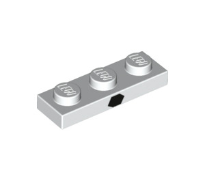 LEGO Plate 1 x 3 with Black hexagon in centre (3623 / 39700)