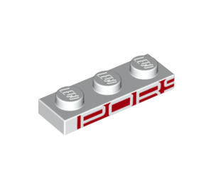 LEGO Plate 1 x 3 with Decoration (25078)
