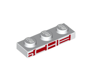 LEGO Plate 1 x 3 with Decoration (25079)