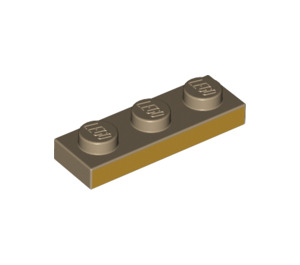 LEGO Plate 1 x 3 with Flat Gold long edge (3623 / 69172)