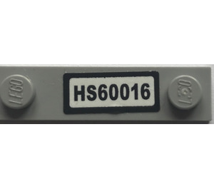 "LEGO Plate 1 x 4 with Two Studs with ""HS60016"" Sticker (92593)"