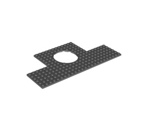 LEGO Plate 12 x 24 with 6 x 6 Round Cutout (18601)