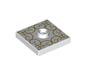 LEGO Plate 2 x 2 with Groove and 1 Center Stud with Decoration (23893 / 66509)