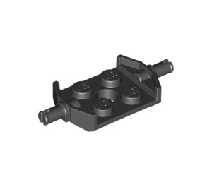 LEGO Plate 2 x 2 with Wide Wheel Attachments Reinforced Bottom (11002)