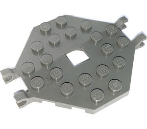 LEGO Plate 6 x 6 Open Center without 4 Corners with 4 Clips (2539)
