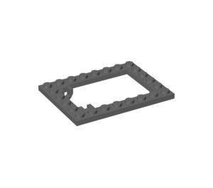 LEGO Plate 6 x 8 Trap Door Frame Recessed Pin Holders (30041)