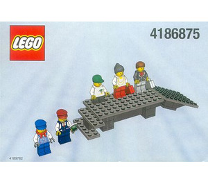 LEGO Platform and Mini-Figures (White box) Set 4186875