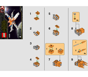 LEGO Poe Dameron's X-wing Fighter Set 30386 Instructions