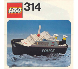 LEGO Police Launch Set 314-1 Instructions
