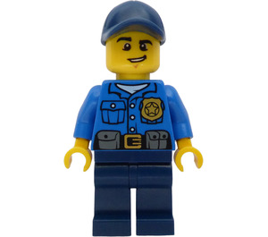 LEGO Police Officer with Dark Blue Cap Minifigure