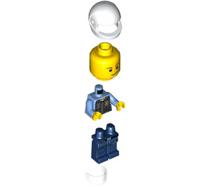 LEGO Police Officer with White Helmet Minifigure