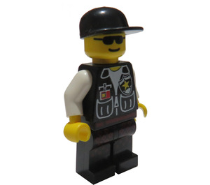LEGO Police with Sheriff Star and Black Cap Minifigure
