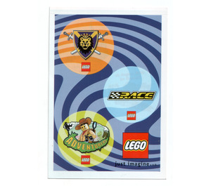 LEGO Postcard 'just imagine...'  with 3 stickers