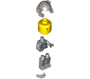 LEGO Power Miner Doc with Gray Suit and Silver Helmet Minifigure