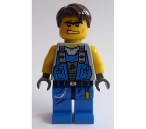 LEGO Power Miner Worker with Orange Scar in Face Minifigure