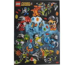 LEGO Power miners sticker sheet