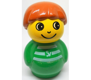 LEGO Primo Figure, Boy with Green Base, Green Top with Stripes and Anchor Pattern Primo Figure