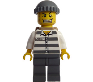 LEGO Prisoner 50380 with Gold Tooth, Knitted Cap and Backpack Minifigure