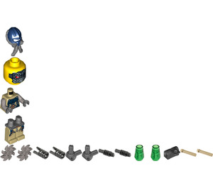 LEGO Psyclone with Parachute Backpack and Attachments Minifigure