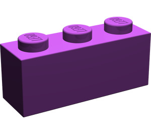 LEGO Purple Brick 1 x 3 (3622)