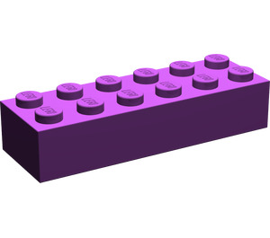 LEGO Purple Brick 2 x 6 (2456)