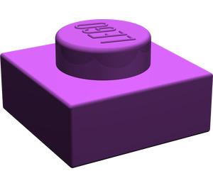 LEGO Purple Plate 1 x 1 (3024)