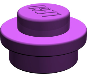 LEGO Purple Round Plate 1 x 1
