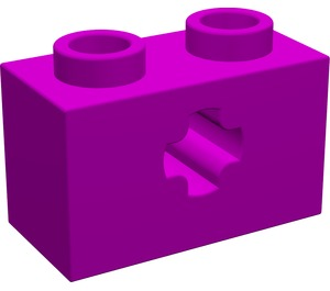 LEGO Purple Technic Brick 1 x 2 with Axle Hole (Old Style with '+' Opening) (32064)
