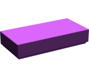 LEGO Purple Tile 1 x 2 with Groove (3069)
