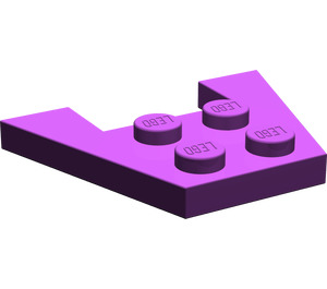 LEGO Purple Wedge Plate 3 x 4 without Stud Notches (4859)