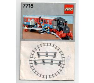 LEGO Push-Along Passenger Steam Train Set 7715 Instructions