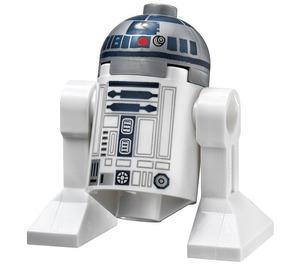 LEGO R2-D2 Minifigure (Flat Silver Head, Dark Blue Printing, Red Dots)