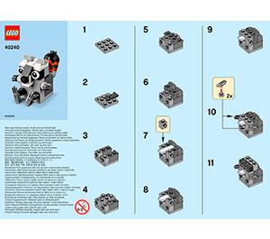 LEGO Raccoon Set 40240 Instructions