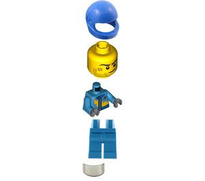 LEGO Race Car Rally Driver with Lightning Bolt Minifigure
