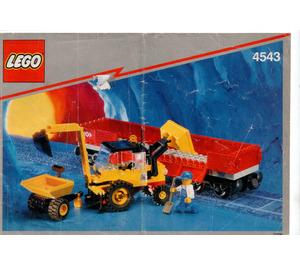 LEGO Railroad Tractor Flatbed Set 4543 Instructions