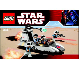 LEGO Rebel Scout Speeder Set 7668 Instructions