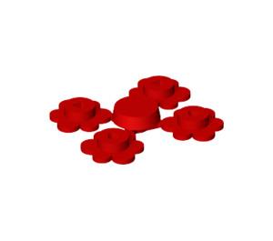 LEGO Red 4 Flower Heads on Sprue (3742)