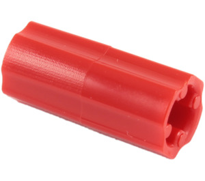 LEGO Red Axle Connector (Smooth with 'x' Hole) (59443)