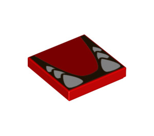 LEGO Red Bowser Tile 2 x 2 with Groove (68983)