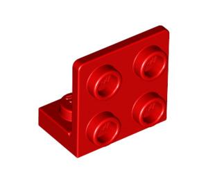 LEGO rouge Support 1 x 2 - 2 x 2 En haut (99207)