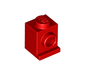 LEGO Red Brick 1 x 1 with Headlight and No Slot (4070)